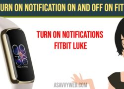 Turn on Notification ON And OFF on Fitbit Luxe