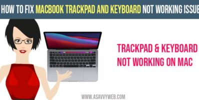 MacBook Trackpad and Keyboard Not Working