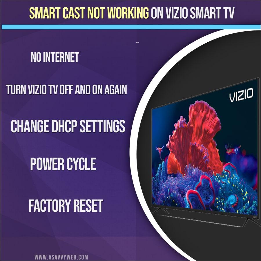 How to fix Smart Cast Not Working on VIZIO smart TV