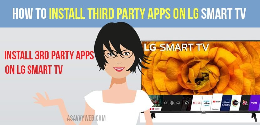 install third party apps on lg smart tv
