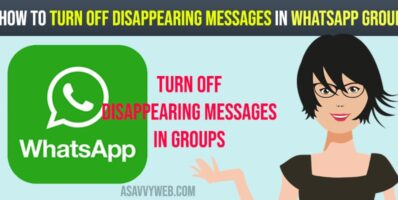 How to turn off disappearing messages in whatsapp group