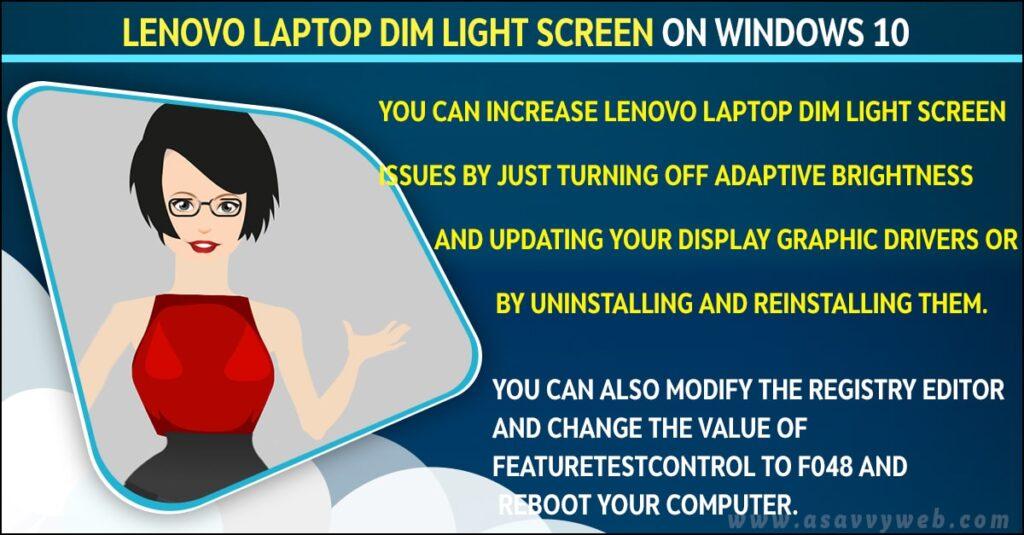 fix Any Lenovo Laptop Dim Light Screen on Windows 10