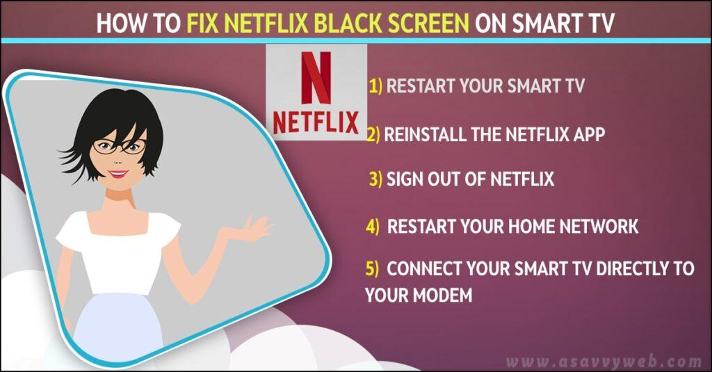 Fix Netflix Black Screen on Smart tv