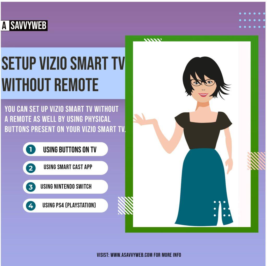 Setup VIZIO Smart TV Without Remote
