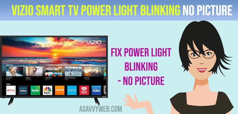 Vizio Smart tv Power Light Blinking No Picture