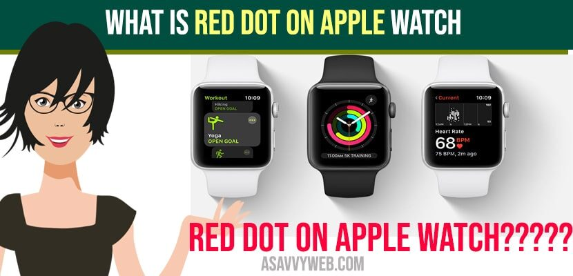 What is Red Dot on Apple Watch