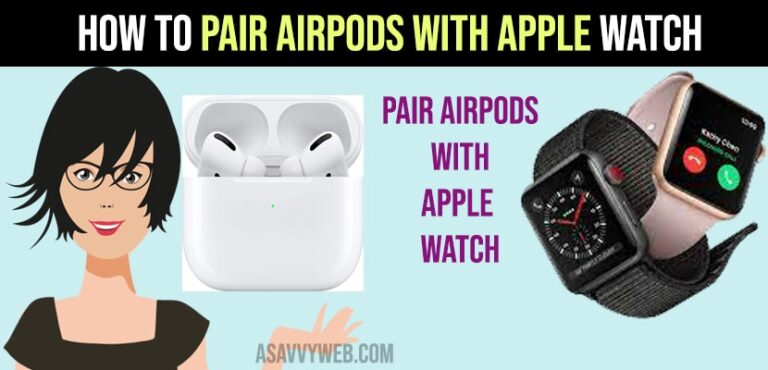 Pair airpods with apple watch