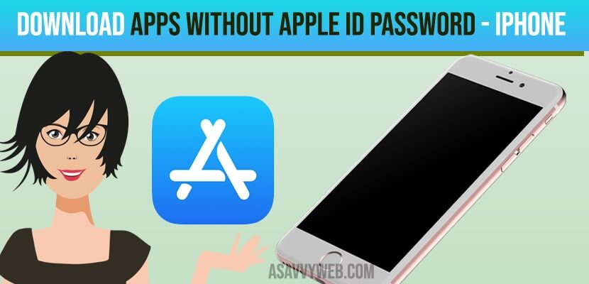 download apps without apple id password