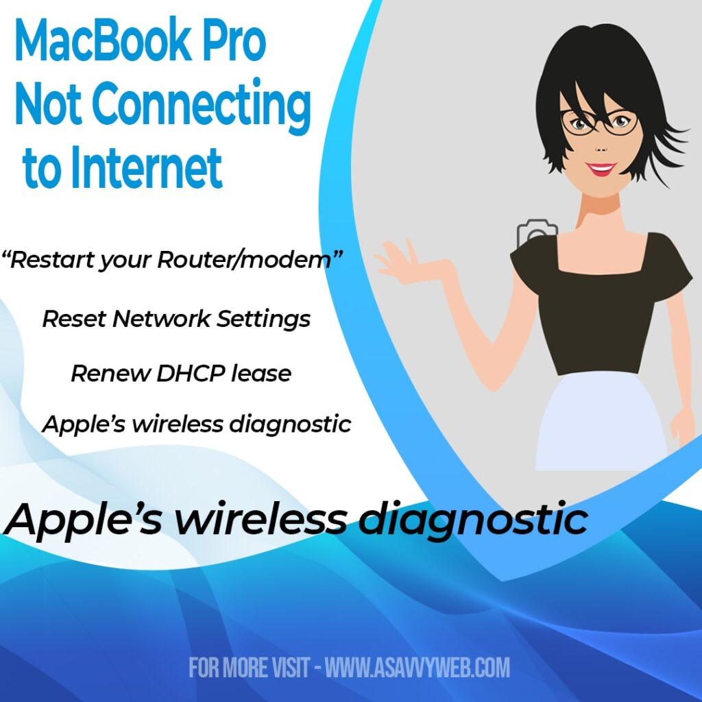 Fix macbook pro not connecting to internet