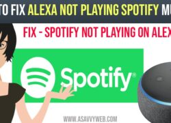 How to Fix Alexa Not Playing Spotify Music