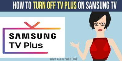 Turn off Samsung Tv Plus