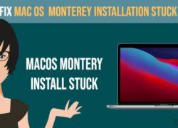 MAC OS Monterey installation stuck frozen