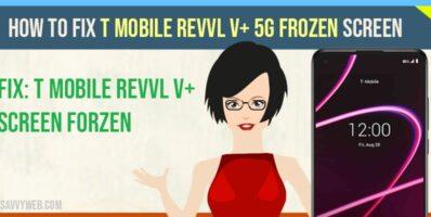 T Mobile REVVL V+ 5g Frozen Screen