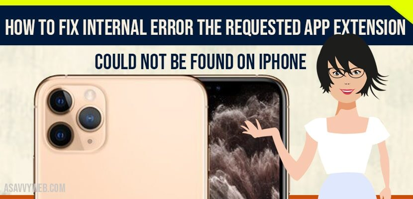 Internal Error The Requested App Extension Could Not be Found on iPhone