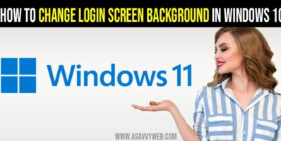 How to Change Login Screen Background in windows 10