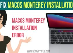 How to Fix MacOS Monterey Installation Failed