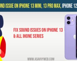 How to Fix Sound issue on iPhone 13 mini, 13 pro max, iPhone 12, iPhone 11, iPhone X