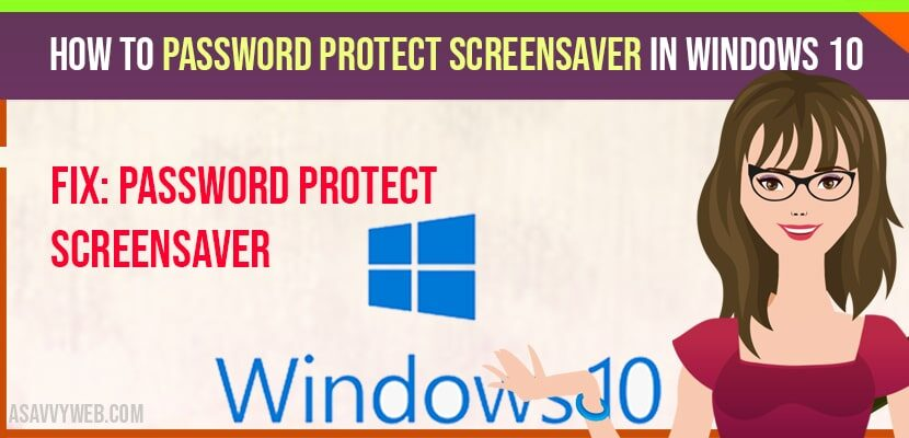how to password protect screensaver