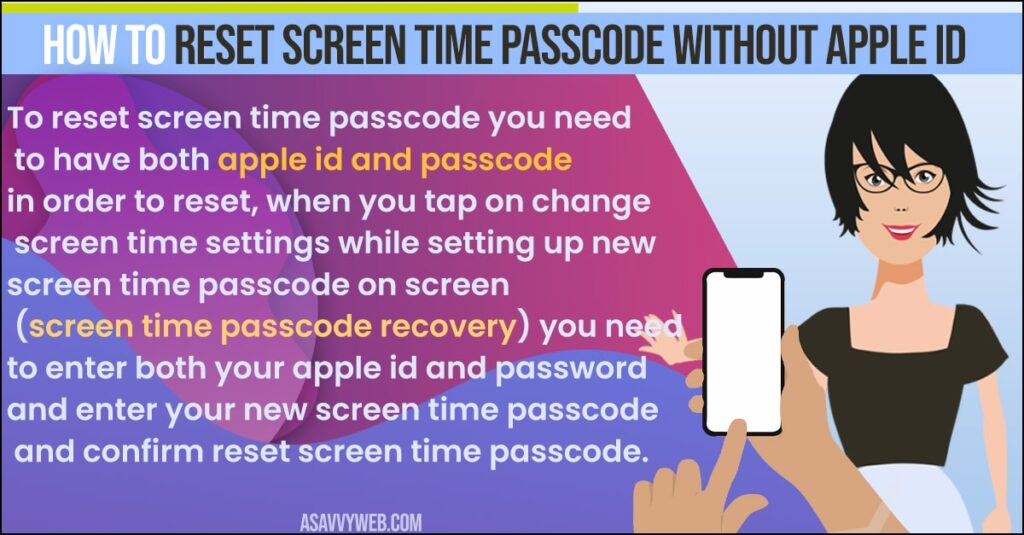 How to Reset Screen Time passcode without Apple ID