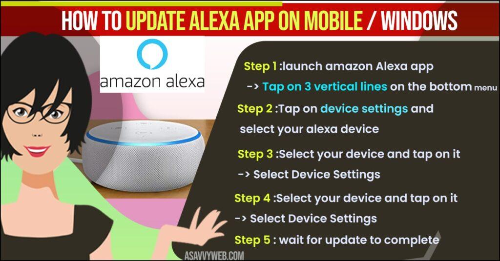 Update Alexa App
