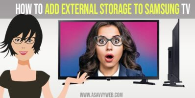 How to add external storage to Samsung tv