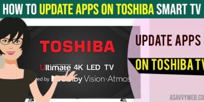 Update apps on toshiba smart tv