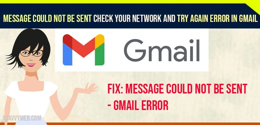 Message could not be sent check your network