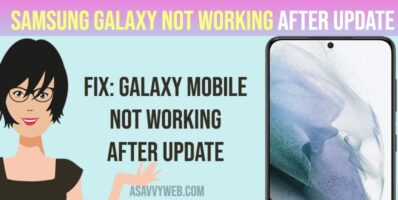 How to Fix Samsung Galaxy Not Working After Update