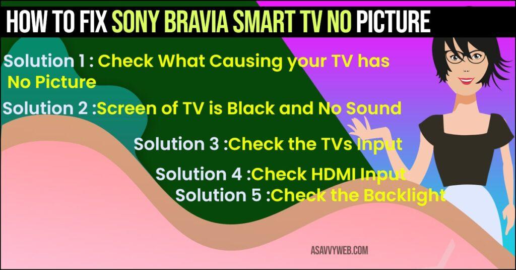Sony Bravia Smart TV No Picture