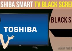 Toshiba TV black screen