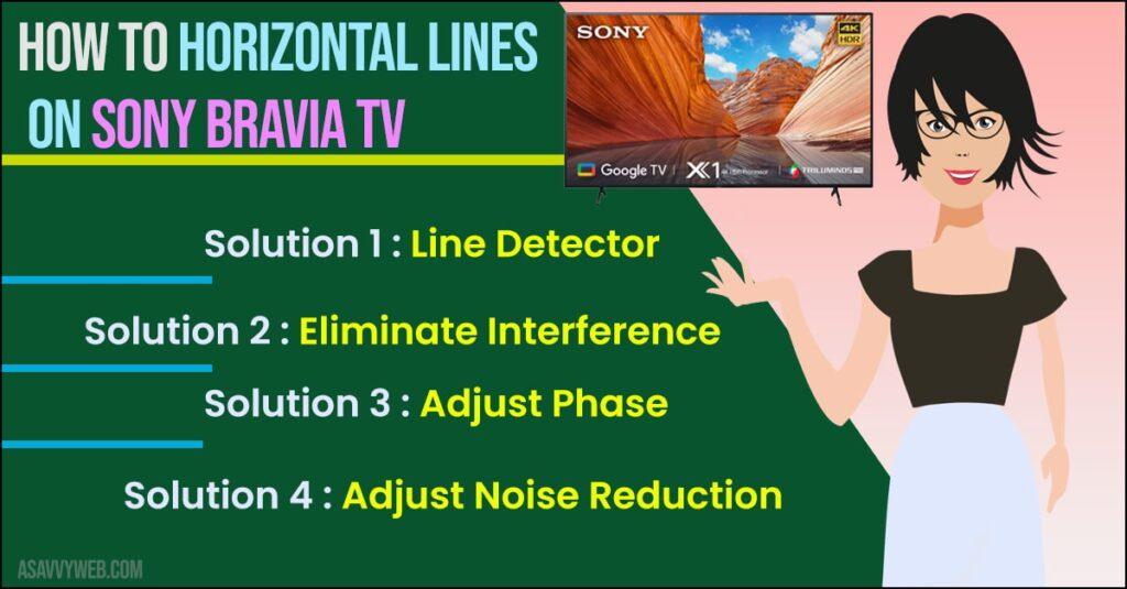 fix Horizontal Lines on Sony Bravia TV