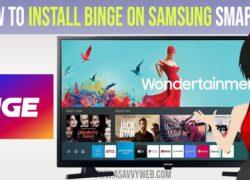 install binge on samsung smart tv