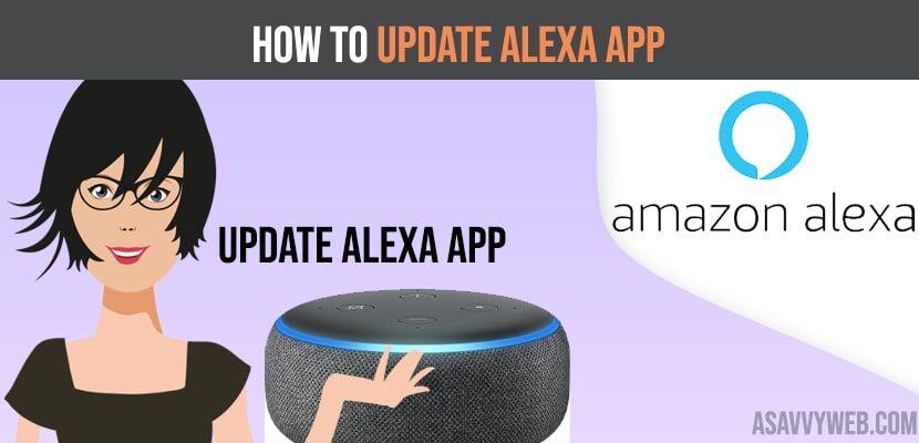 How to update alexa app