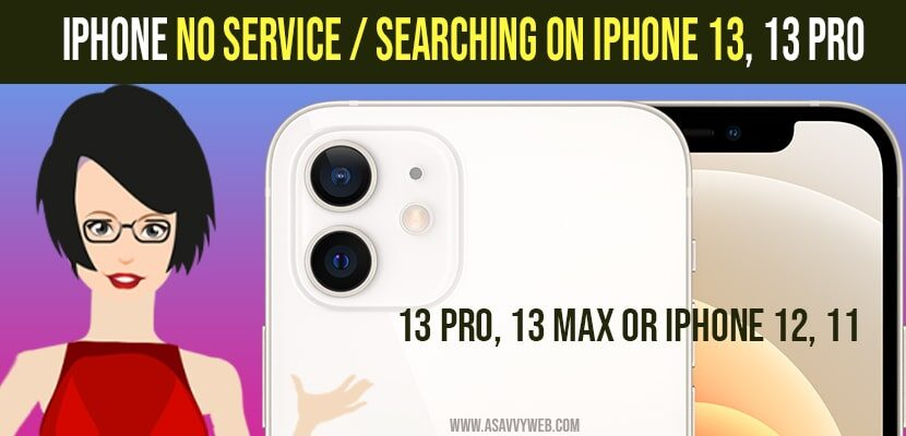 iphone no service - searching on iPhone 13