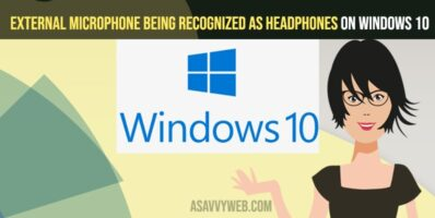 External Microphone Being Recognized as Headphones on Windows 10