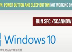 Fix Shut Down, Power Button and Sleep Button Not Working on Windows 10