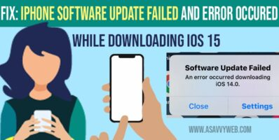 software update failed an error occurred while downloading