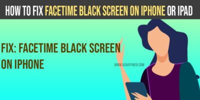 facetime black screen on iPhone