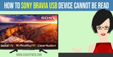 How to Fix Sony bravia USB Device Cannot be Read