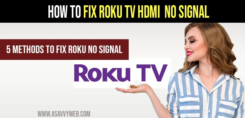 fix Roku tv hdmi Not working