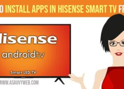Install Apps on Hisense Smart TV From USB