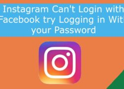 Instagram Can't Login with Facebook try Logging in With your Password