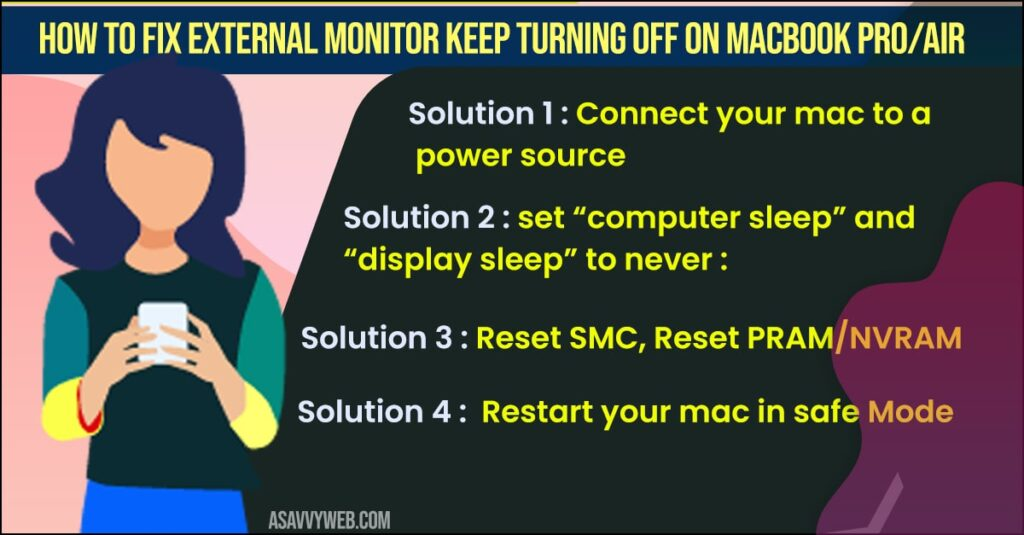 external monitor keep turning off on macbook pro-air