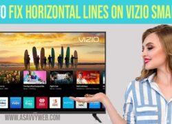 Horizontal Lines on Vizio Smart TV Screen