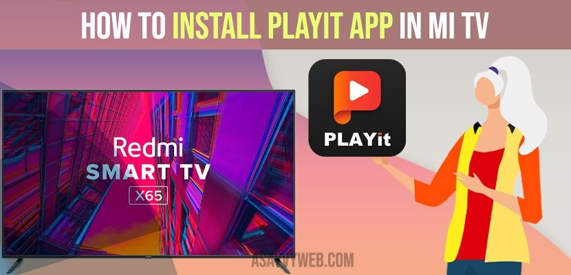 how to install playit app on mitv