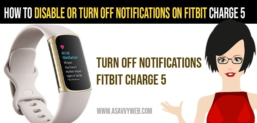 Turn off Notifications on Fitbit Charge 5